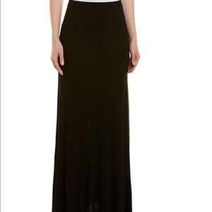 BCBG MaxAzria black maxi knit long skirt